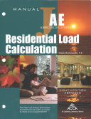 ANSI ACCA 2 Manual J8AE   2016 Residential Load Calculation  8th Edition   AE