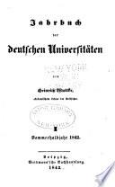 Jahrbuch der deutschen Universitäten ...