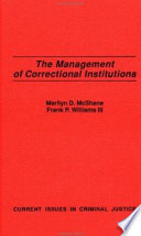 The Management of Correctional Institutions