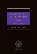 EU Social and Employment Law 2E