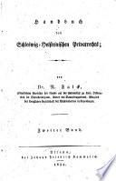 Handbuch des schleswig-holsteinischen privatrechts