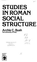 Studies in Roman social structure