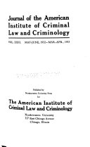 Journal of Criminal Law and Criminology