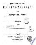 Königlich-Baierischer Polizey-Anzeiger oder Kundschafts-Blatt von München