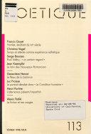 poétique n°19 - revue de théorie et d'analyse littéraires