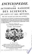 Encyclop  die  ou Dictionnaire raisonn   des sciences  des arts et des metiers