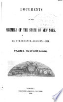 Documents of the Assembly of the State of New York Book PDF
