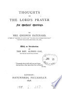 Thoughts on the Lord s prayer