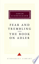 Fear and Trembling   The Book on Adler