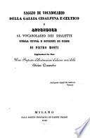 Vocabolario dei dialetti della citt   e diocesi di Como