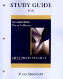 Study Guide for Corporate Finance