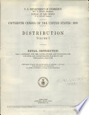 Fifteenth Census of the United States  1930  Distribution  Volume I  Retail Distribution  Part I  Summary for the United States  and Statistics for Counties and Incorporated Places of 1 000 Population and Over