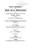 Revue universelle des mines, ...