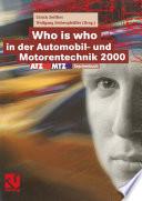 Who is who in der Automobil- und Motorentechnik 2000