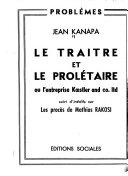 Le Tra Tre Et Le Prol Taire Ou L Entreprise Koestler And Co Ltd Suivi D In Dits Sur Les Proc S De Mathias Rakosi