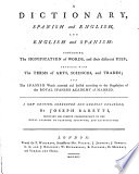 A Dictionary Spanish And English And English And Spanish A New Edition Corrected And Greatly Enlarged