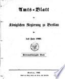 Amts-Blatt der Regierung in Breslau