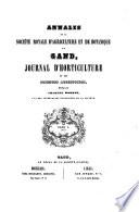 illustration Annales de la Société royale d'agriculture et de botanique de Gand