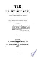 Vie de Mme. Judson, missionaire dans l'empire Birman