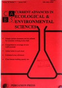 Current Advances in Ecological & Environmental Sciences