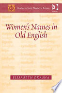 Women S Names In Old English book