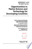 Opportunities in Marine Science and Technology for Developing Countries