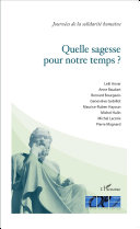 download ebook quelle sagesse pour notre temps ? pdf epub