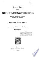 Vortr  ge   ber Descendenztheorie