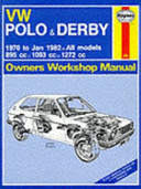 Vw Polo Derby Owners Workshop Manual