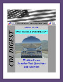 CDL Practice Test Study Guide  Tanker Endorsement