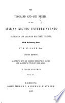 The Thousand And One Nights  Or  The Arabian Nights  Entertainments : ...