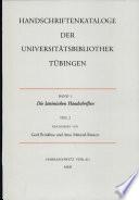 Handschriftenkataloge der Universitätsbibliothek Tübingen