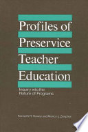 Profiles of Preservice Teacher Education