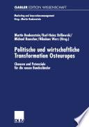 Politische und wirtschaftliche Transformation Osteuropas