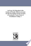 An Essay on Education in the Society of Friends