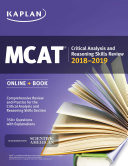 MCAT Critical Analysis and Reasoning Skills Review 2018 2019