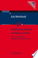 Stabilization  Optimal and Robust Control