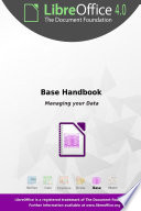 LibreOffice 4 0 Base Handbook