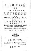 Abrégé de l'histoire ancienne de Monsieur Rollin, 5 tomes