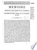 Mémoire pour M. Georges Tardy de La Carrière ; contre M. Marc Tardy de La Carrière, son frère