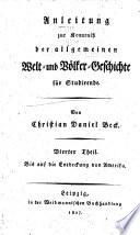 Anleitung zur Kenntniss der allgemeinen Welt- und Völker-Geschichte für Studirende