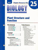 Holt Biology Chapter 25 Resource File Plant Structure And Function