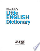 Blackie S Little English Dictionary