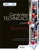 Cambridge Technicals Level 3 Business