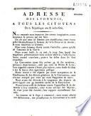 Adresse des Lyonnois    tous les citoyens