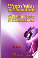 52 Positive Quotes for 52 Successful Weeks   52 Pens  es Positives pour 52 Semaines R  ussies