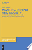 Meaning In Mind And Society book