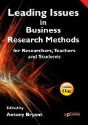 Leading Issues in Business Research Methods Collection Of 11 Important Research Methodology