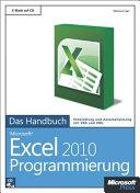 Microsoft-Excel-2010-Programmierung - das Handbuch