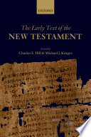 Ebook The Early Text of the New Testament Epub Charles E. Hill,Michael J. Kruger Apps Read Mobile